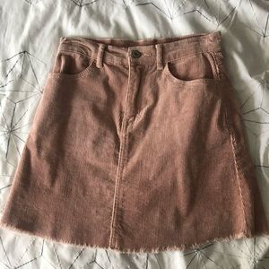 Brandy Melville Pink Mini-Skirt